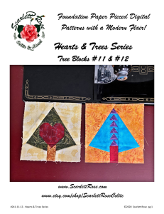 Tree Blocks 11 and 12 Foundation Paper Pieced FPP Digital Pattern - Hearts & Trees Series | Crafting | Sewing | Other