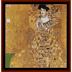 adele bloch-bauer ii – gustav klimt cross stitch pattern by cross stitch collectibles