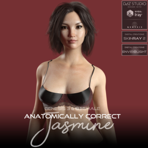 anatomically correct: jasmine for genesis 3 and genesis 8 female