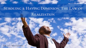subduing and having dominion pt.01