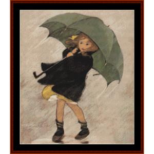 Rainy Day – Jesse Willcox Smith cross stitch pattern by Cross Stitch Collectibles | Crafting | Cross-Stitch | Other