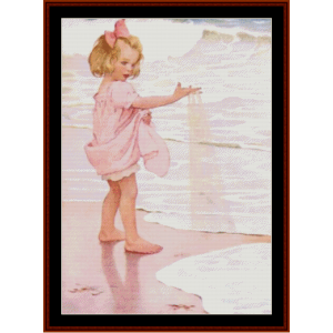 Girl on the Beach – Jesse Willcox Smith cross stitch pattern by Cross Stitch Collectibles | Crafting | Cross-Stitch | Other