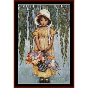posies – jesse willcox smith cross stitch pattern by cross stitch collectibles