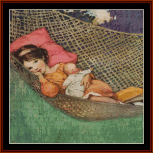 Young Girl in Hammock – Jesse Willcox Smith cross stitch pattern by Cross Stitch Collectibles | Crafting | Cross-Stitch | Other