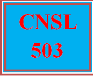cnsl 503r wk 1 – self-reflection paper