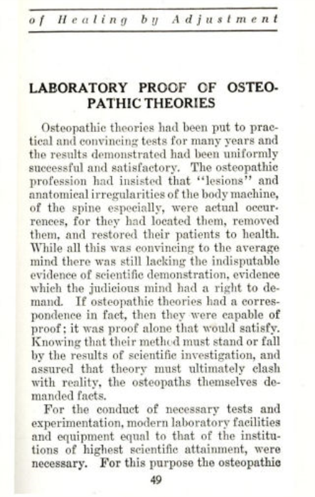 Fourth Additional product image for - Osteopathy - The Science of Healing by Adjustment