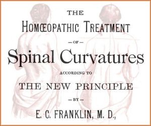 the homeopathic treatment of spinal curvatures