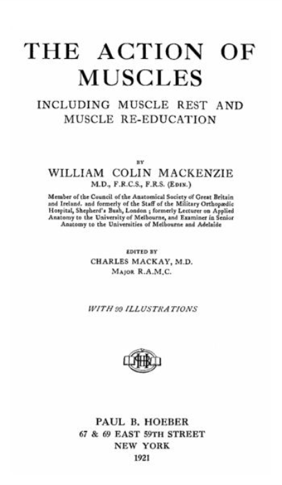 Fourth Additional product image for - The Action of Muscles By William Colin Mackenzie