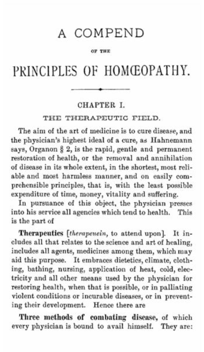 Second Additional product image for - A Compend of the Principles of Homeopathy