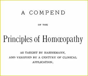 a compend of the principles of homeopathy
