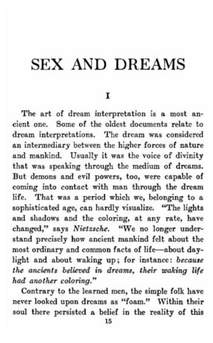 Second Additional product image for - Sex and Dreams: The Language of Dreams