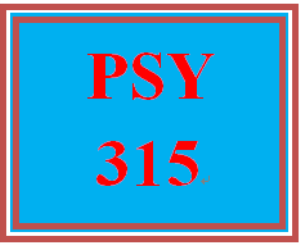 PSY 315 Wk 4 Discussion | eBooks | Education