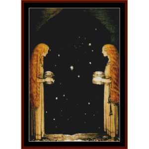 merry christmas ii – john bauer cross stitch pattern by cross stitch collectibles