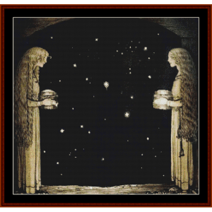 merry christmas iii – john bauer cross stitch pattern by cross stitch collectibles