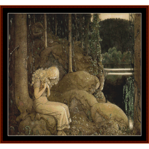 princess i skogen – john bauer cross stitch pattern by cross stitch collectibles
