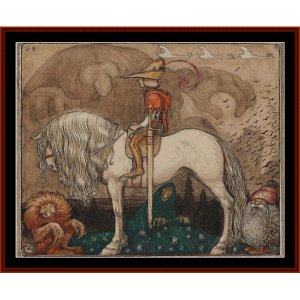 he would become a knight – john bauer cross stitch pattern by cross stitch collectibles