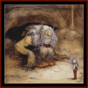 The Boy Who Was Never Afraid – John Bauer cross stitch pattern by Cross Stitch Collectibles | Crafting | Cross-Stitch | Other