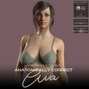 anatomically correct: ava for genesis 3 and genesis 8 female