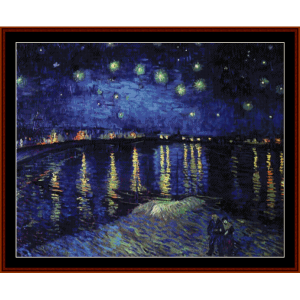 starry night over the rhone, new edition - van gogh cross stitch pattern by cross stitch collectibles