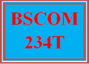 BSCOM 234T Wk 3 - Apply: Self and Perception | eBooks | Education
