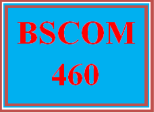 BSCOM 460 Wk 4 - Public Relations Analysis Presentation and Press Release | eBooks | Education