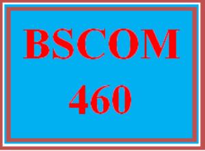 BSCOM 460 Wk 5 Team - Final Learning Team Project Part III: Final Paper | eBooks | Education