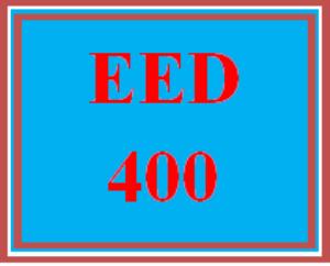 EED 400 Wk 3 Team – Comprehensive Assessment Binder, Part 1 | eBooks | Education