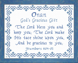 name blessings - onan