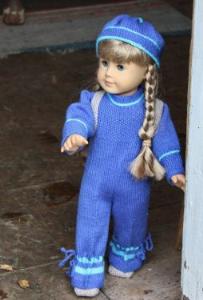DollKnittingPattern 0033D KIRSTEN - Tøff dress, Ryggsekk, Lue og Sko-(Norsk) | Crafting | Knitting | Other