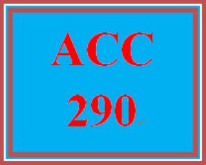 ACC 290T Wk 4 - Apply: Homework | eBooks | Education