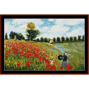 Poppy Field, new edition - Monet cross stitch pattern by Cross Stitch Collectibles | Crafting | Cross-Stitch | Other