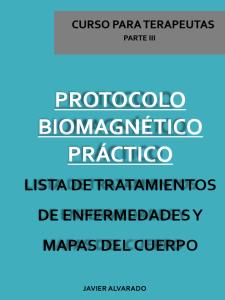 protocolo biomagnético: lista de tratamientos de enfermedades y mapas del cuerpo