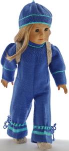 DollKnittingPatterns 0033D KIRSTEN - Combinaison, Chapeau, Sac à dos et chaussures-(Francais) | Crafting | Knitting | Other