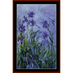 Lilac Irises, new edition - Monet cross stitch pattern by Cross Stitch Collectibles | Crafting | Cross-Stitch | Other
