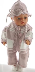 dollknittingpatterns 0212d ada - genser, skjørt, truse, hatt og sokker-(norsk)