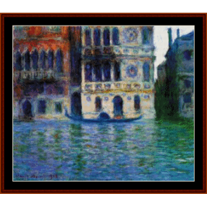 palazzo dario, new edition - monet cross stitch pattern by cross stitch collectibles
