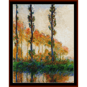 Three Trees in Autumn, new edition - Monet cross stitch pattern by Cross Stitch Collectibles | Crafting | Cross-Stitch | Other