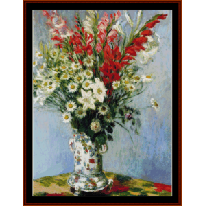 Bouquet of Gladiolas - Monet cross stitch pattern by Cross Stitch Collectibles | Crafting | Cross-Stitch | Other