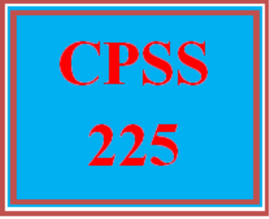 CPSS 225 Wk 4 Discussion - Interviews | eBooks | Education