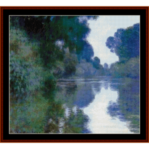 Morning on the Seine VI - Monet new edition cross stitch pattern by Cross Stitch Collectibles | Crafting | Cross-Stitch | Other