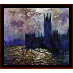 Houses of Parliament, new edition - Monet cross stitch pattern by Cross Stitch Collectibles | Crafting | Cross-Stitch | Other
