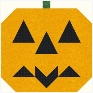 batty pumpkin quilt block