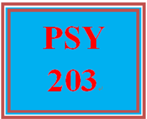 PSY 203 All Discussions | eBooks | Education