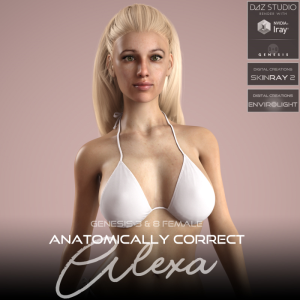 anatomically correct: alexa for genesis 3 and genesis 8 female