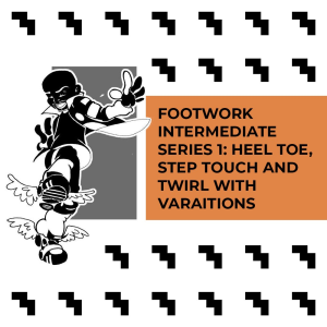 intermediate footwork with heel toe, step touch, and swirl (cminor produced music)