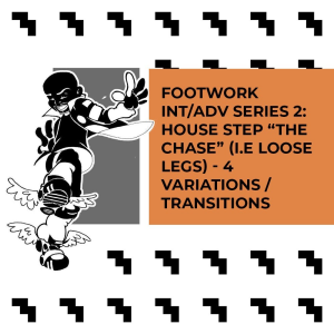 "intermediate/advanced footwork series 2: the chase (i.e. ""loose legs"") with 4 variations & transitions by brian ""footwork"" green (music by cminor)"