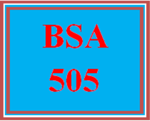BSA 505 All Discussions | eBooks | Education