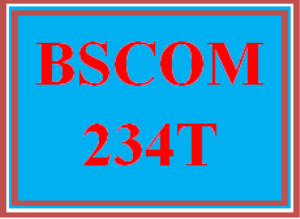 BSCOM 234 Wk 3 Discussion - Self and Perception | eBooks | Education