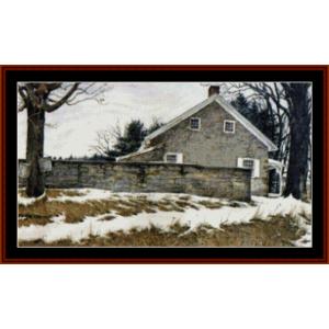 Meeting House - Americana cross stitch pattern by Cross Stitch Collectibles | Crafting | Cross-Stitch | Other