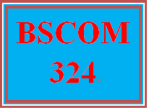 BSCOM 324 Wk 1 Discussion | eBooks | Education